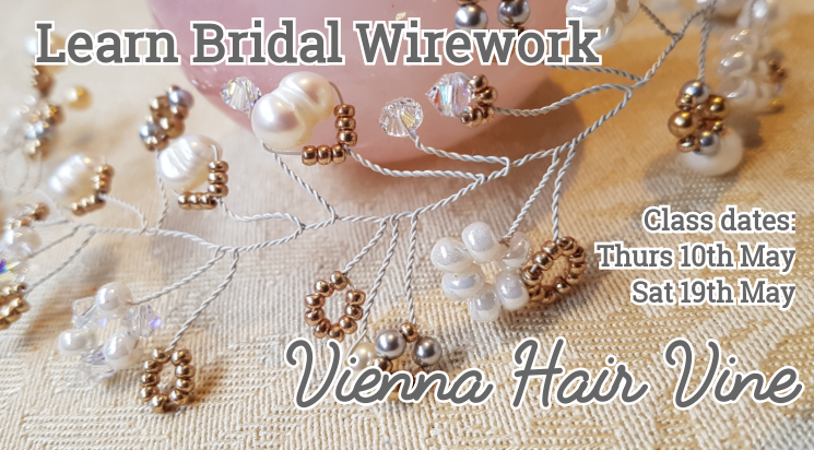 Learn to make a hair vine - wirework class held at Shiney Rocks
