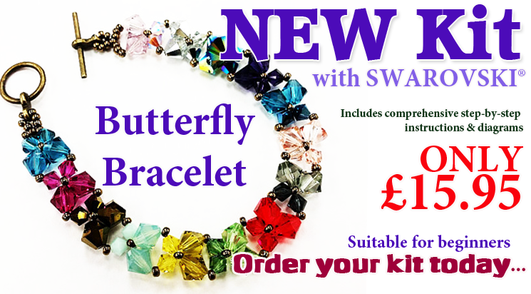 Crystal Butterfly Beadwork Bracelet Kit