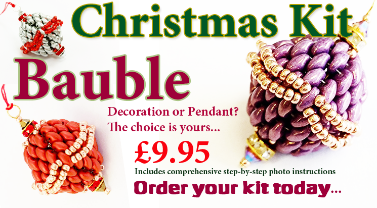 Christmas SuperDuo Beadwork Bauble Kit