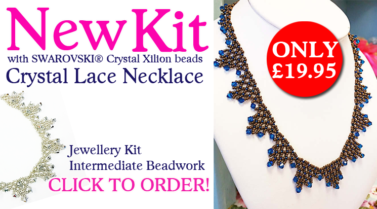 Crystal Lace Necklace Beadwork Kit