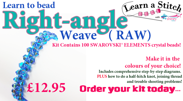 Right angle weave jewellery beadwork  kit instructions