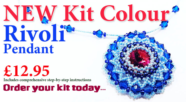 Rivoli Pendant Necklace Beadwork Kit