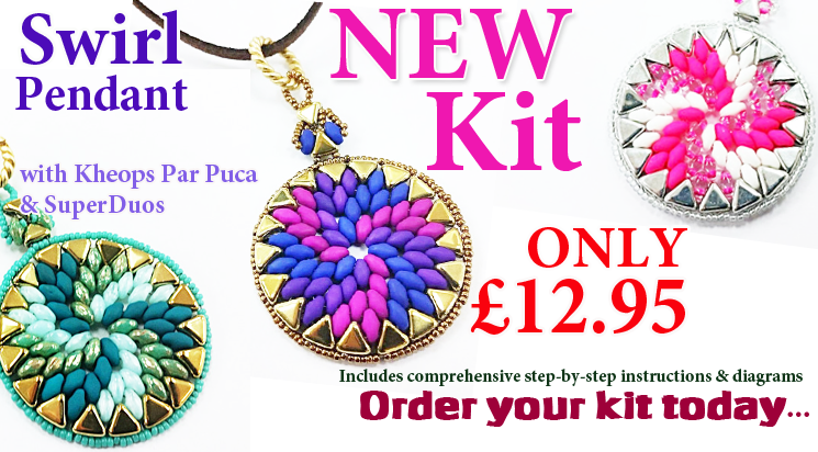 New Swirl Pendant Kit with Kheops Par Puca Beads