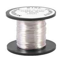 Silver Plated 0.71mm 14 metre Craft Wire Reel for jewellery making and craft