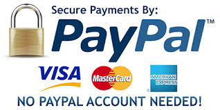 Checkout securely with PayPal, no PayPal Account needed